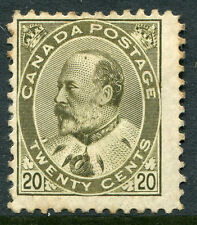 CANADA #94 AVG/Fine Original Gum Issue Hinge Remnant - King Edward VII - S7988