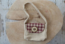 Little Cute Bag Photography Prop for our School Desk  newborn baby vintage look