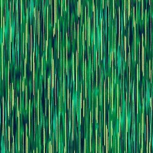 Moonlight Serenade Stripe Metallic Gold Emerald Green Cotton Quilting Fabric