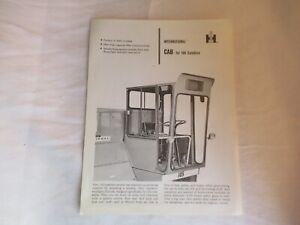 IH International cab for 105 combine specification sheet brochure