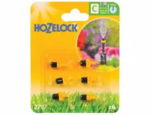 6 x Hozelock 2797 Mister Micro Water Jet Spray Micro Irrigation Auto Watering