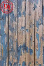 Pavimento in legno blu carta da Parati Sfondo Fondale Vinile Foto di scena 5X7FT 150CMx220CM