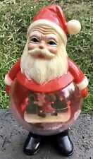 More details for vintage 1960's christmas santa claus snow globe refillable collectable snowglobe