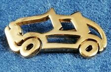 Brooch Pin Signed Costume Jewelry Htf Crown Trifari Gold Tone Car
