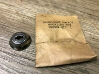 1940 to 48 DODGE PLYMOUTH DESOTO NOS MOPAR CHROME HEADLIGHT SWITCH NUT 898504