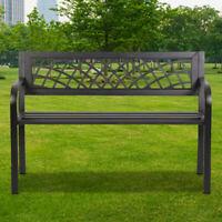 Patio Park Yard Garden Bench Porch Path Chair Outdoor Deck Steel Frame Furniture