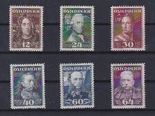 1935 Österreichische Heerführer Postfrisch ** MNH 617 - 622 ANK € 210,--