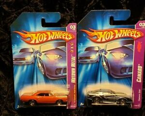 HOTWHEELS * LOT OF 2 , 70 PLYMOUTH ROAD RUNNER & CAMERA Z28 ** NICE CARS !!!!!