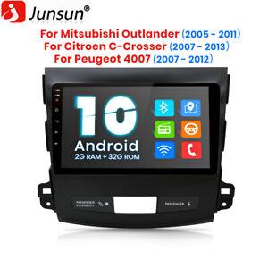 For Mitsubishi Outlander Peugeot 4007 Stereo Radio 9'' Android 10.0 GPS 2GB+32GB