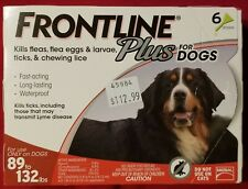 Frontline Plus Flea & Tick Treatment-6 Doses For Large Dogs 89-133 lbs.