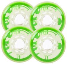 RINK RAT Wheels 76mm 78a IDENTITY KRYSIS 4-Pack White/Green Inline Indoor Hockey