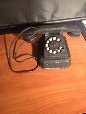 Rare Vintage Tin Toy Rotary Phone