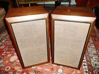 Vintage KLH5 Acoustic Suspension Speakers, Walnut, Upgraded, Excellent