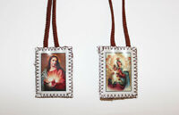 Scapular of Our Lady of Mt. Carmel and Sacred Heart of Jesus Brown