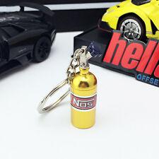 NOS Turbo Nitrogen Bottle Metal Keyfob Key Ring Holder Car Keychain Pendant