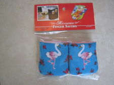 Flamingo-Cotton-Microwave Oven Mitts-Hot Pads-Pot Holder-Patty's Mitts Free