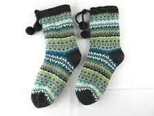 Women's Socks Soft Blue Gray with Tassels Warm