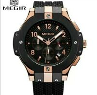 NEW MEGIR Brand Men Watch Quartz, Water Resistant Chronograph Mens Wrist...