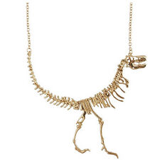 Punk Dinosaur Skeleton Skull BONE Tyrannosaurus T-Rex Necklace Chain Alloy EP PL