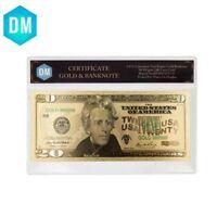 20 Dollar 24k Gold Foil Banknote Business Souvenir Gifts with COA Frame Artwork