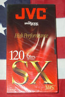 JVC High Performance T-120 SX 6 Hrs VHS Blank Video Tape New & Factory Sealed
