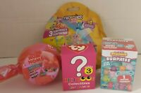Surprise Toy Lot of 4 NIB Num Noms, TY Mini Boo,  Squishies, & Fingerlings Minis