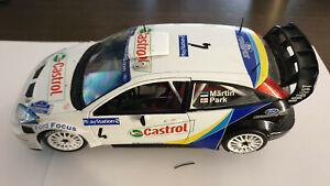SOLIDO 1/18 Ford Focus WRC Castrol Tour de Corse Rallye de France 2003  M.Martin