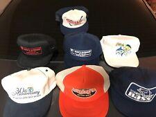 Vintage 80s Fishing Hats Bagleys Baits, Saltwater Sportdman Bass Trucker Lot 7