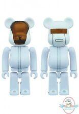 Daft Punk Bearbrick 100% 2 Pack White Suits Version by Medicom
