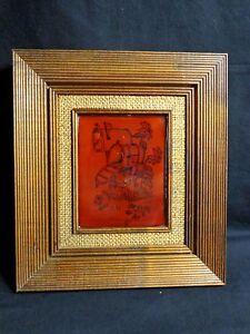 Vintage Wall Hanging RED COUNTRY MAILBOX 9 x 8 Wood Frame Handmade 1982