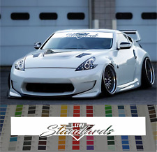 Low Standards Banner Windshield Sticker Decal rauh welt style 2018 car JDM