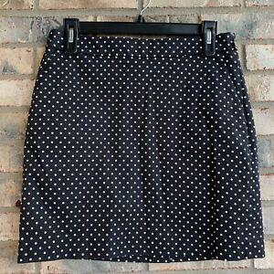 Polo Ralph Lauren Golf Skort Skirt Size 2 Black Polka Dots NWOT