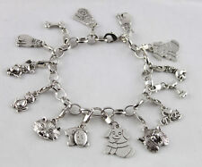 3PCS BRACELETS Tibetan Silver color Dog & Cat Charm Bracelets