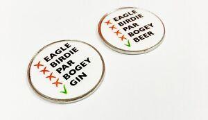 Beer / Gin metal golf ball marker. Society Societies stag