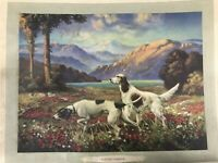 Antique Print Hunters Paradise Bird Dogs On The Hunt