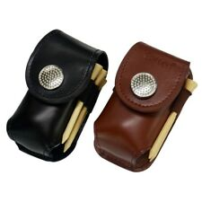 Faux Leather Golf Ball Bag Holder Clip Small Waist Pack Utility Pouch Sports SZ