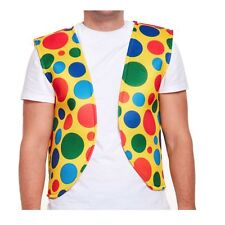 Clown Vest Adult Waist Coat Fancy Dress Accessory Spotty Circus Outift Polka Dot
