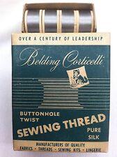 Vintage Silk Thread 12 Spools Antique Nickell Belding Corticelli Butonhole Twist