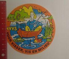 Aufkleber/Sticker: NVVS voor visser vis en milieu (291216101)