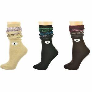 Women's Slouch or Knee High Organic Cotton Socks, 2 Pr. or 3 Pr. Pack W5000