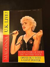 Rare Vintage Madonna Who's That Girl 1987 British Concert Tour Program Poster