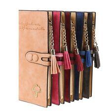 Women Leather Long Wallet ID Card Holder Zip Coin Purse Clutch Handbag