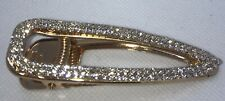 BLING Crystal Diamantes Hair Clip X Large Rose Gold Hairpin Slide Grips NEW