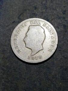 1916 El Salvador 5 Centavos Coin  #23268