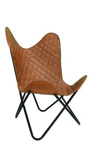 Butterfly Chair for Living Room Sleeper Seat Lounge Handmade Real Leather ⭐⭐⭐⭐⭐