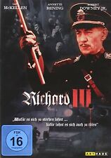 Richard III  Three 3 -UK Region 2 DVD  Ian McKellen, Annette Bening, Robert NEW