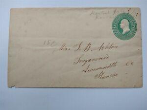 Kansas: Rantoul 1871 3c Entire Cover, Ms, Franklin Co