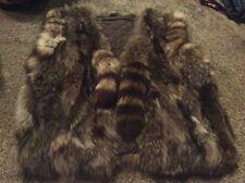Vintage Raccoon Vest Style Jacket Fur Tail Coat Real???