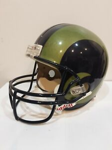 LOS ANGELES RAMS NFL RIDDELL FULL SIZE REPLICA HELMET WITH GREEN HORNS
