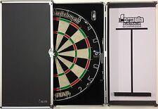 PRO STAR Dart Board Set Aluminium Dart Board Cabinet & PRO MICRO WIRE dart board